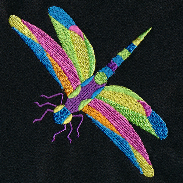 Geometric dragonfly urban threads unique and awesome