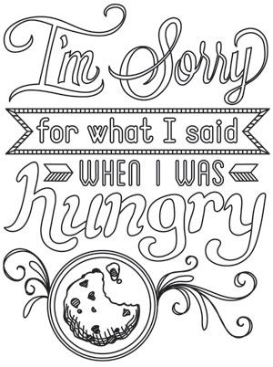 Am Sorry - Free Coloring Pages