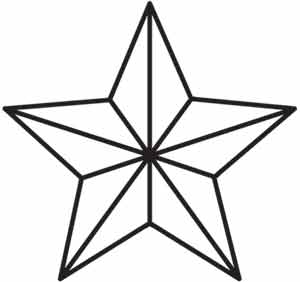 Rock star urban threads unique and awesome embroidery for How to draw a perfect star shape