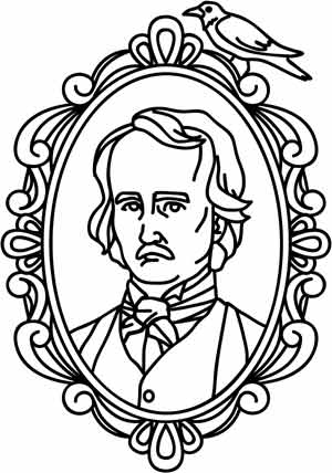 edgar allan poe coloring pages - photo#11