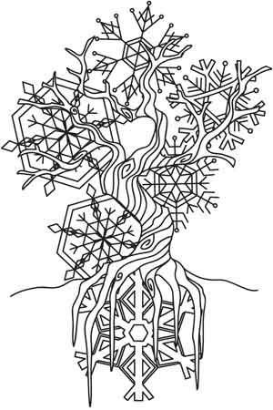 winter tree coloring page - the winter tree urban threads unique and awesome