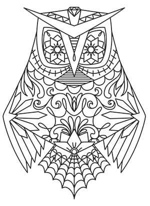 owl design coloring pages - dia de los muertos owl urban threads unique and awesome