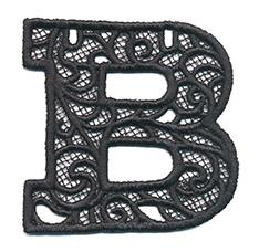 Bunting Letter B (Lace)_image