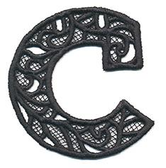 Bunting Letter C (Lace)_image