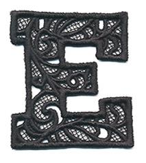 Bunting Letter E (Lace)_image