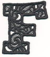Bunting Letter F (Lace)_image