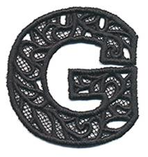 Bunting Letter G (Lace)_image