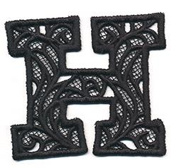 Bunting Letter H (Lace)_image