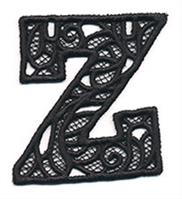the letter h bunting alphabet lace design pack threads 12732
