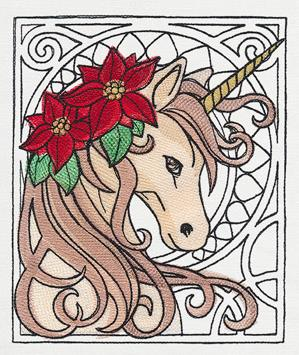 Art Nouveau Christmas - Unicorn_image