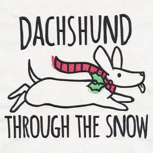 Christmas Punimals - Dachshund Through the Snow_image
