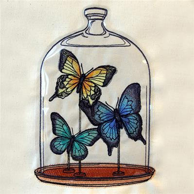 Butterfly Bell Jar (Vinyl Applique)_image