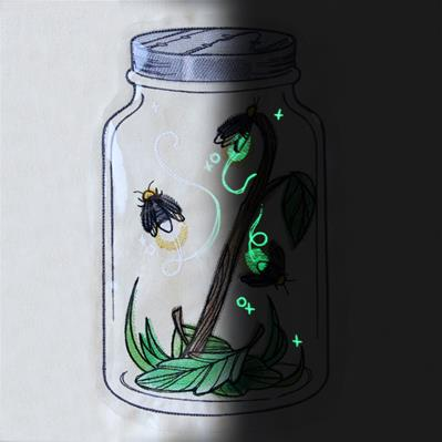 Flickering Fireflies (Vinyl Applique)_image