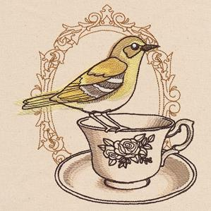 French Cafe - Teacup with Bird_image