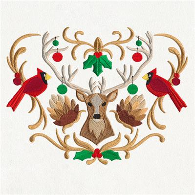 Folksy Christmas Crest_image