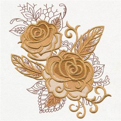 Autumn Baroque - Roses and Feathers_image