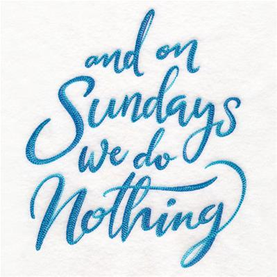And On Sundays We Do Nothing_image
