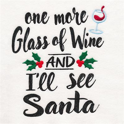 One More Glass of Wine and I'll See Santa_image