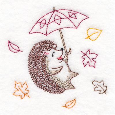 Blustery Autumn Hedgehog_image