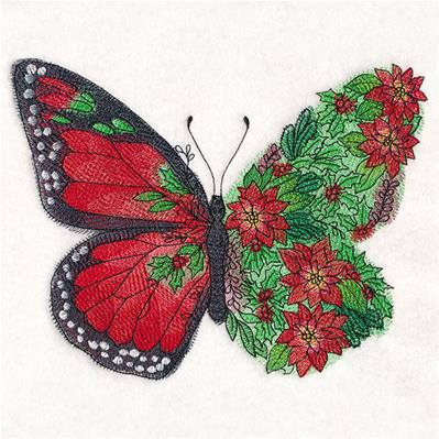 Butterfly in Christmas Flowers_image