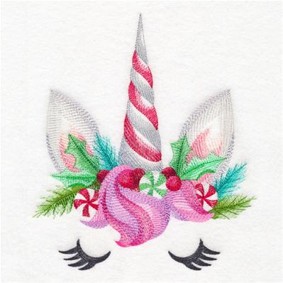 Enchanting Christmas Unicorn Face_image