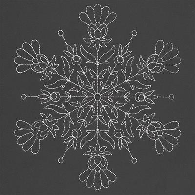 Blossoming Winter Snowflake_image