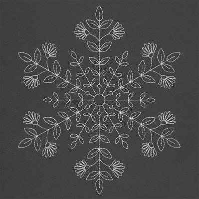 Botanical Winter Snowflake_image