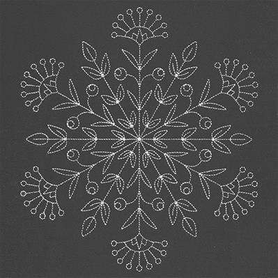 Blooming Winter Snowflake_image
