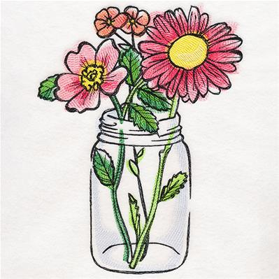 Blooming Mason Jar_image