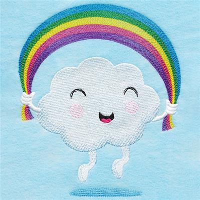 Happy Day Cloud with Rainbow_image