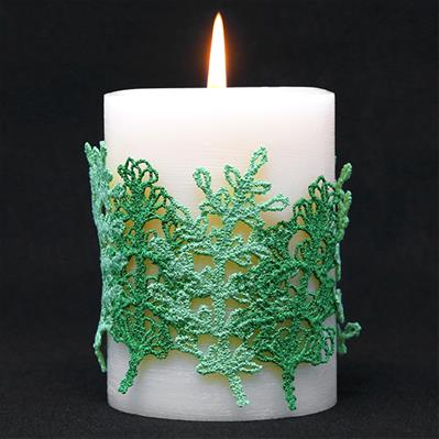 Lush Ferns Candle Wrap (Lace)_image