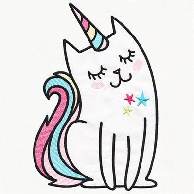 Charming Magic Unicorn Cat_image