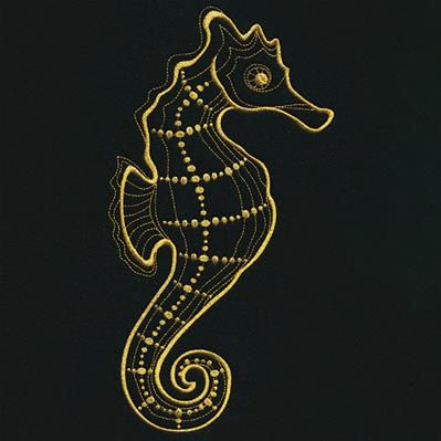 Gilded Seahorse_image