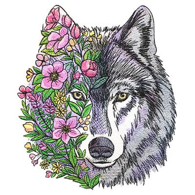 Wolf in Flowers_image