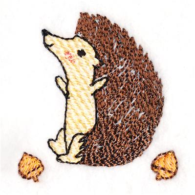 Playful Woodland Hedgehog_image