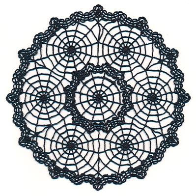 Spooky Spiderweb Doily (Lace)_image