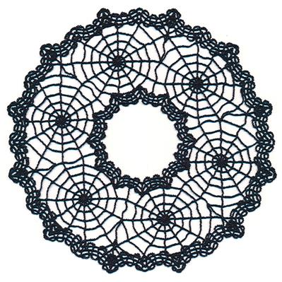 Spooky Spiderweb Doily - Open Center (Lace)_image