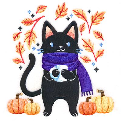 Cozy Autumn Kitty_image