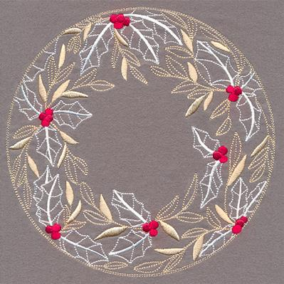 Holly and Berries Wreath_image