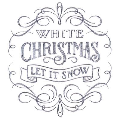 Calligraphic White Christmas_image