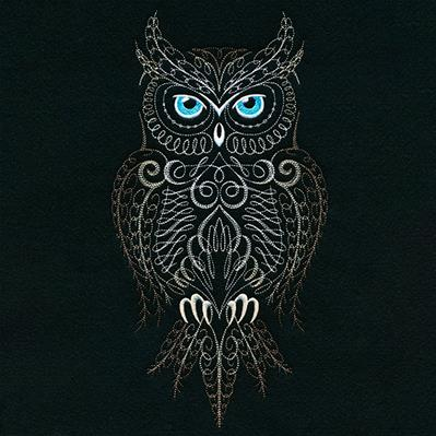 Calligraphic Horned Owl_image