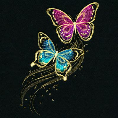 Shimmering Butterfly Trails_image
