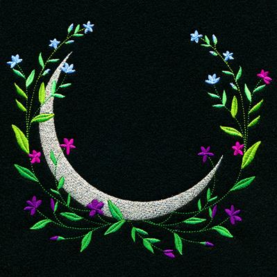 Floral Crescent Moon_image