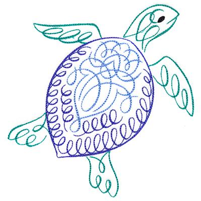 Calligraphic Sea Turtle_image