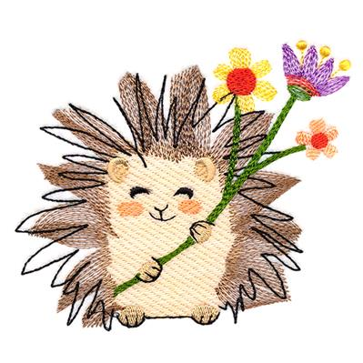 Sweet Garden Hedgehog_image