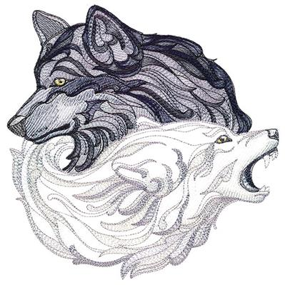 Read me with wolf line Machine embroidery Design 3 Sizes Reading Pillow-INSTANT D0WNL0AD