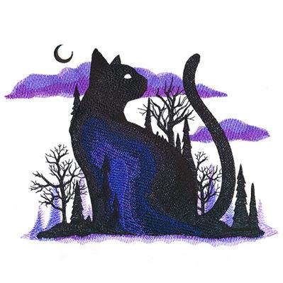 Midnight Forest Kitty_image