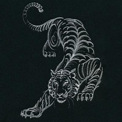 Calligraphic Prowling Tiger_image