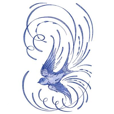 Soaring Calligraphic Swallow_image