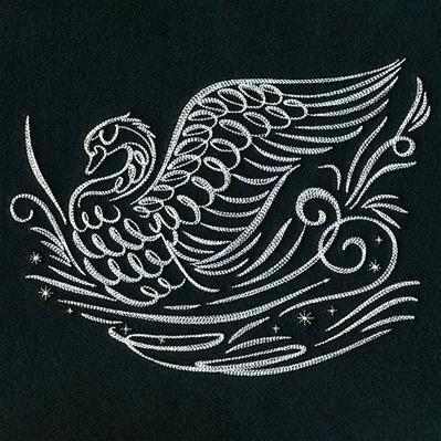 Calligraphic Winter Swan_image